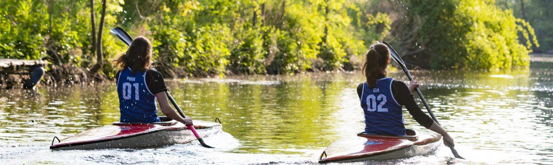 header: kanujugend beim paddeln auf der ochtum