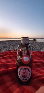Flensburger Bier Sonnenuntergang