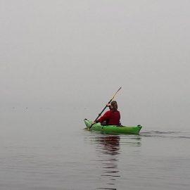 Kanutin auf der Flensburger Förde